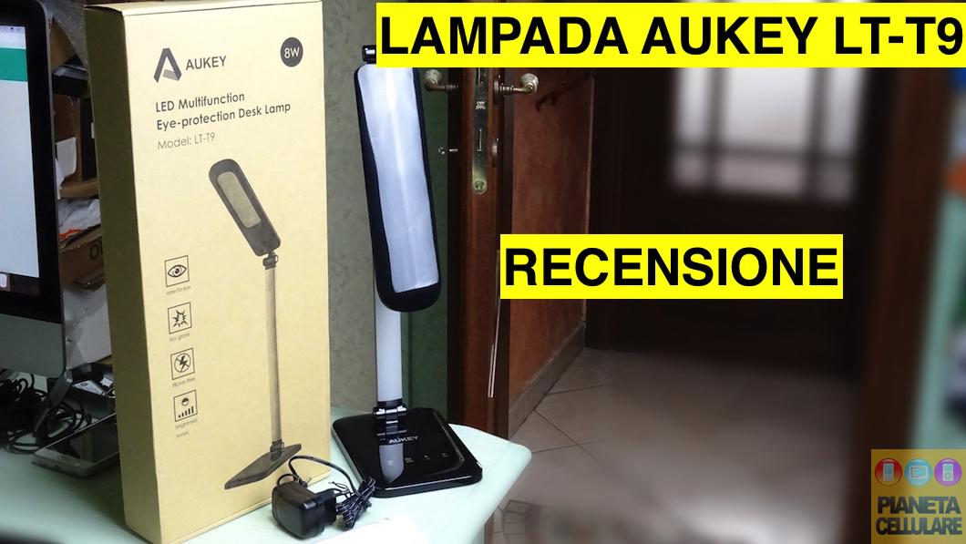 Recensione lampada da scrivania Aukey LT-T9 con pannello Touch