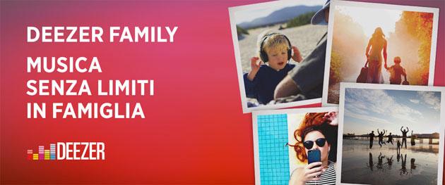 Deezer Family: fino a 6 account Premium per 14,99 euro al mese