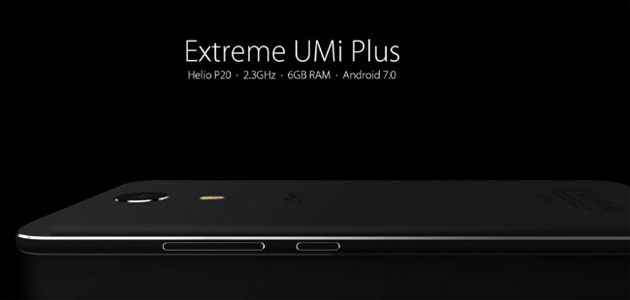 UMi Plus Extreme ufficiale con Helio P20, 6GB RAM, Android 7 Nougat