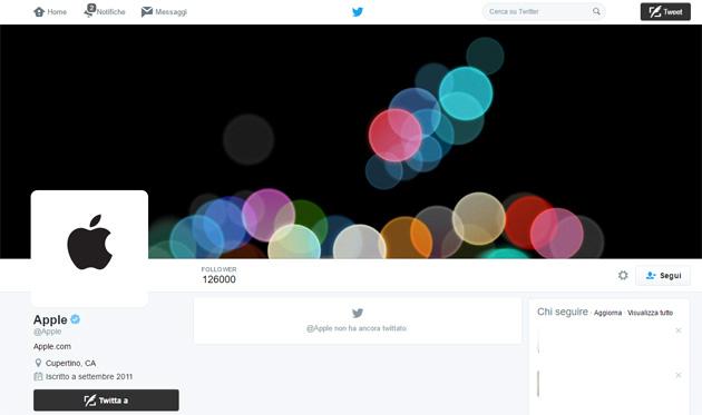 Apple si attiva su Twitter