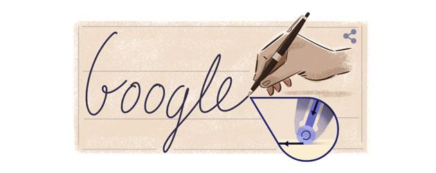 Google doodle a Jose Biro, ideatore della penna a sfera