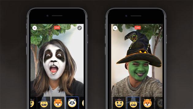 Facebook Live, maschere e reazioni a tema Halloween