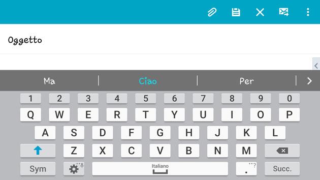 Tastiera Samsung su Galaxy S6 e S7 ha problemi in Mail