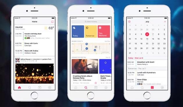 Facebook Events app per gestire eventi per Android e iOS
