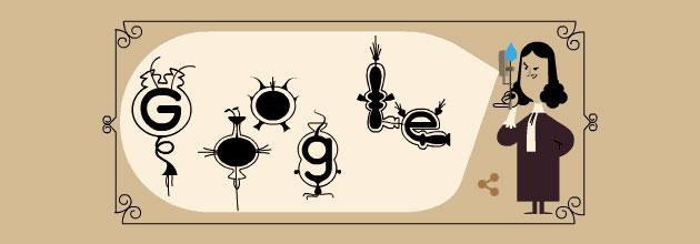 Google Doodle a Antoni van Leeuwenhoek, inventore del microscopio