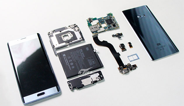 Dentro Xiaomi Mi Note 2 con il teardown