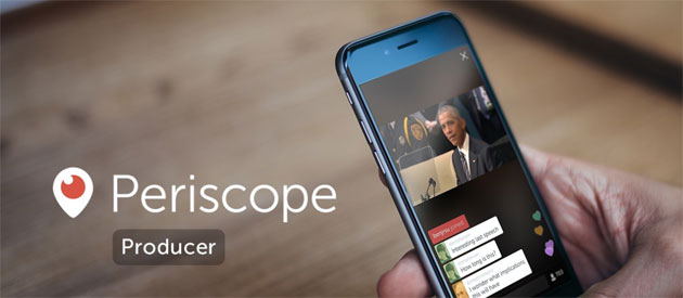 Periscope abbraccia lo streaming professionale con Producer