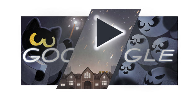 Google Doodle di Halloween 2016 dedicato alla magia felina