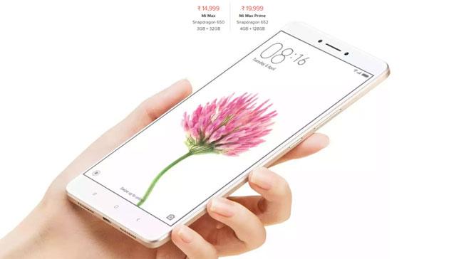 Xiaomi Mi Max Prime ufficiale con display 6.44 pollici, MIUI8 chip S652