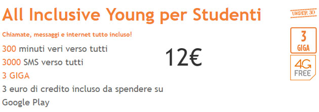 Wind All Inclusive Young per Studenti