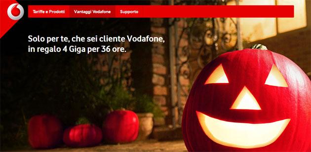 Vodafone regala 4 Giga per Halloween 2016