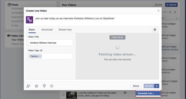 Facebook Live, come pianificare Video in Diretta