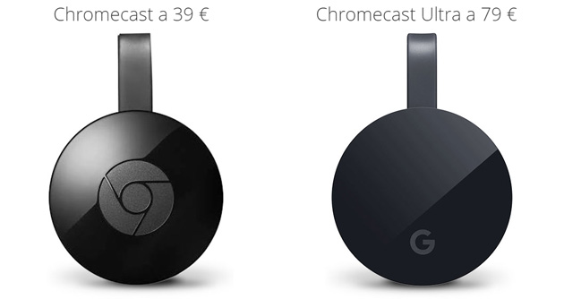 Confronto Google Chromecast Ultra vs Chromecast 2015