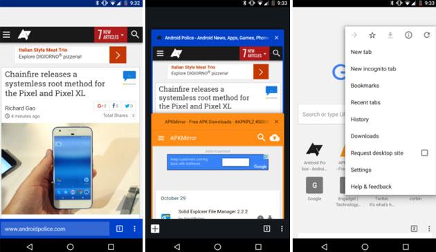 Chrome per Android, barra degli indirizzi spostata in basso in test