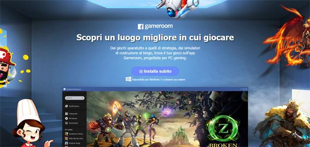 Facebook Gameroom, piattaforma di giochi per Windows