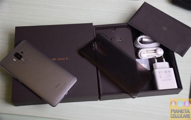 Unboxing Huawei Mate 9 e prime impressioni