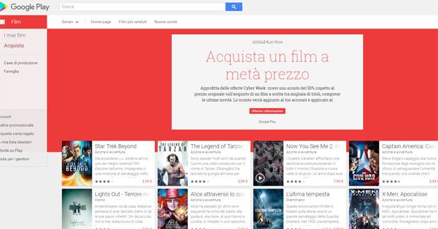 Google Play Cyber Week 2016: sconti per film, giochi e app
