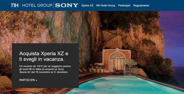 Sony Xperia XZ: 150 euro da spendere in Viaggi se acquisti lo smartphone