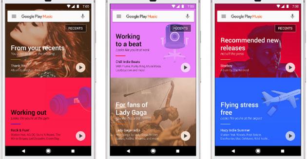 Google Play Music consiglia Playlist in base a luoghi, meteo e abitudini