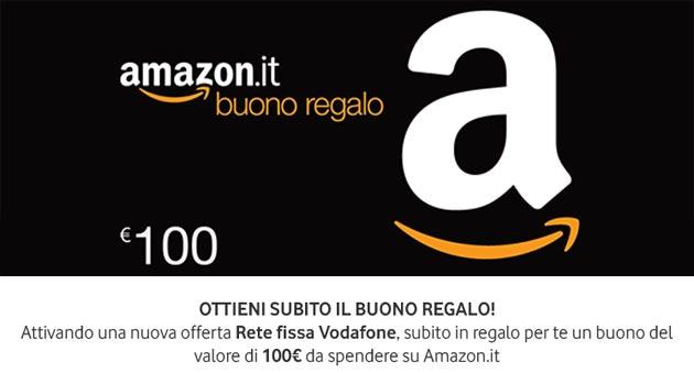 Vodafone regala 100 euro su Amazon.it attivando Fibra o ADSL