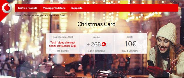 Vodafone Christmas Card 2016: video senza consumare Giga e 2GB di Internet