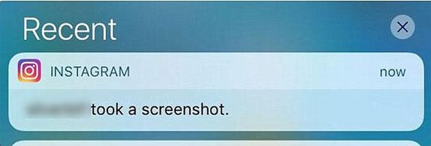 Instagram notifica in caso di screenshot ma solo nei messaggi diretti