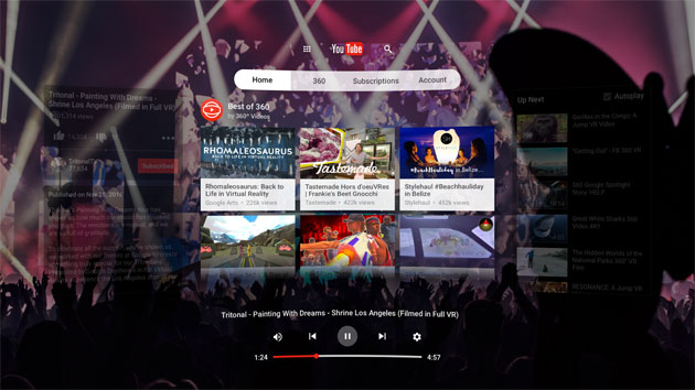 YouTube VR nel Play Store per Daydream View