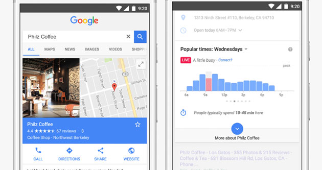 Google mostra tempi di attesa nei ristoranti e affluenza nei luoghi pubblici in Ricerca e Mappe