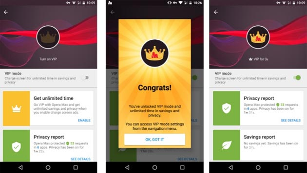 Opera Max introduce la Modalita' VIP e festeggia 50 milioni di utenti
