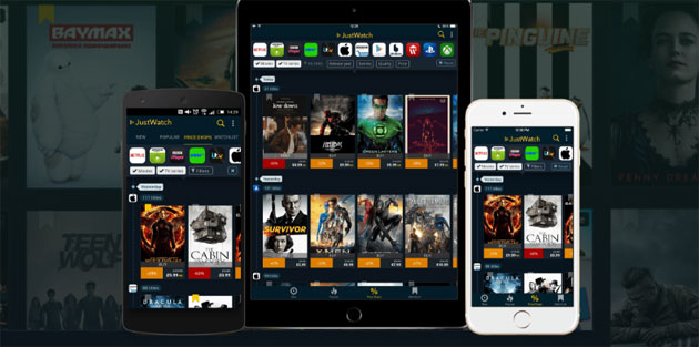 JustWatch, motore di ricerca per film e serie in streaming