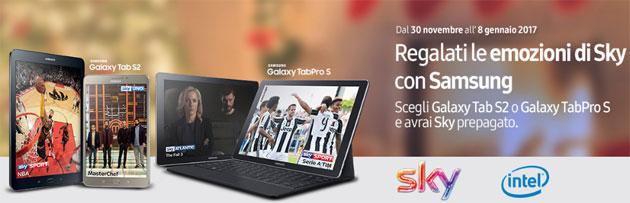 Samsung Galaxy Tab S2 o Tab Pro S regalano un anno di Sky TV