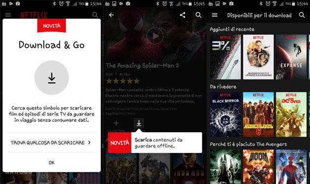 Netflix, da oggi sarà possibile scaricare i video sui dispositivi mobile