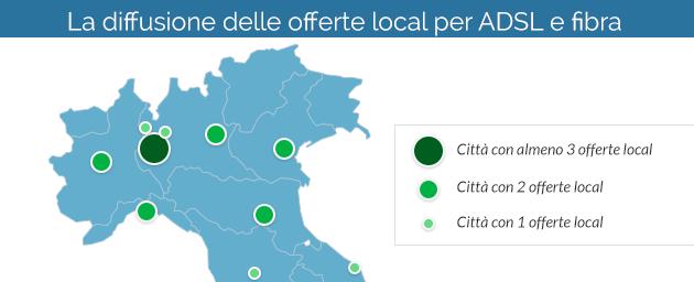 Offerte ADSL e Fibra in Italia: trend del 2016 le tariffe locali