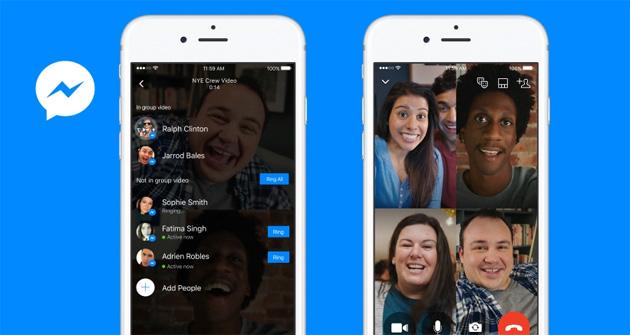 Messenger, Facebook introduce le Videochiamate di gruppo