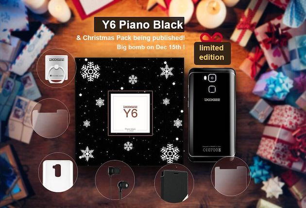 Doogee Y6 arriva in edizione limitata Piano Black con Christmas Pack