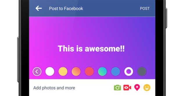 Facebook fa colorare i post, prima su Android