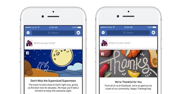 Facebook come Google Doodle: messaggi in News Feed per ricordare eventi