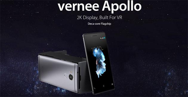 Vernee Apollo VR Edition con display 2k e CPU deca-core