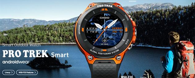 Casio Pro Trek F20, smartwatch Android Wear 2.0