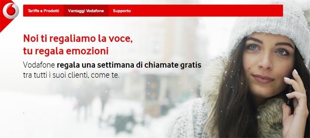 Vodafone Senza Limiti Per Te, una settimana di chiamate gratis da attivare dal 11 al 21 gennaio 2017