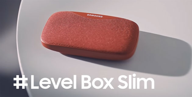 Foto Samsung Level Box Slim, speaker Bluetooth che anche ricarica lo smartphone