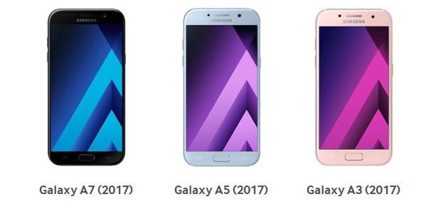 Foto Samsung Galaxy A 2017, Android 7 Nougat in Italia