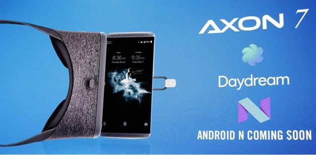 ZTE Axon 7, Android 7 Nougat con Google Daydream disponibile