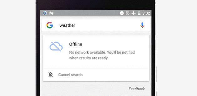 Google salva le ricerche se manca la connessione