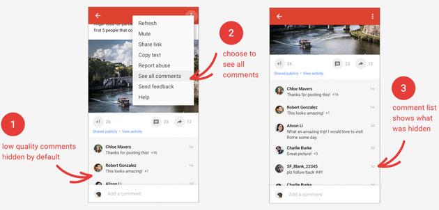Google Plus lancia restyling grafico, Eventi, zoom per le foto