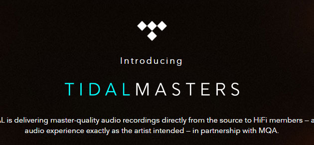 Tidal lancia streaming di musica MQA Hi-Res