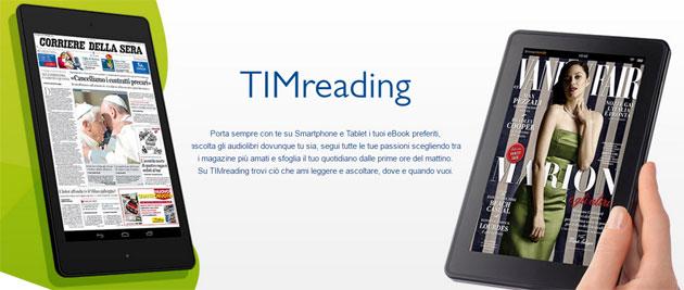 TIMreading: gli ebook si leggono via web anche senza app