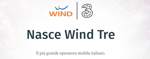 Wind Tre il piu' grande operatore italiano di telecomunicazioni