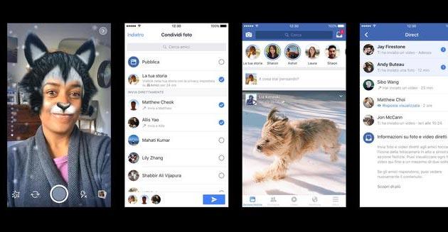 Facebook Storie e Direct come funzionano