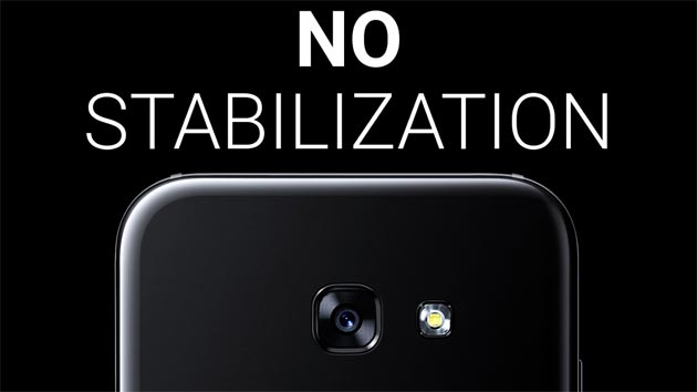 Samsung Galaxy A5 2017 accusato di non avere stabilizzazione video